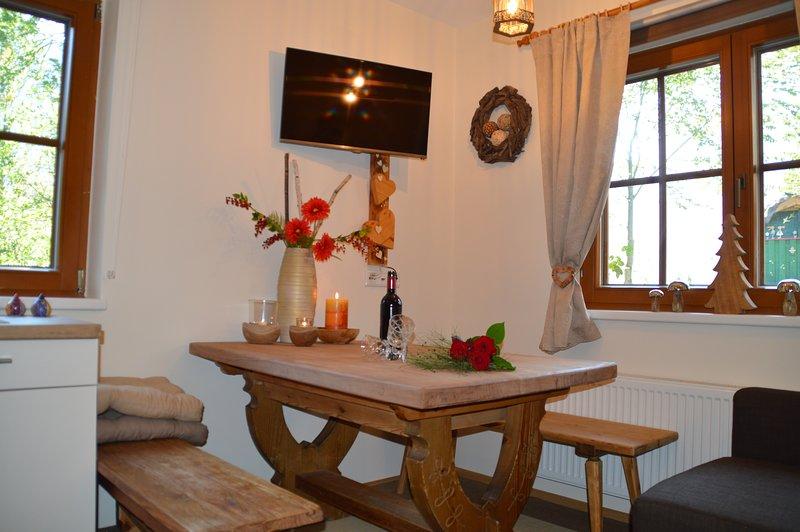 Mesa de jantar área de jantar