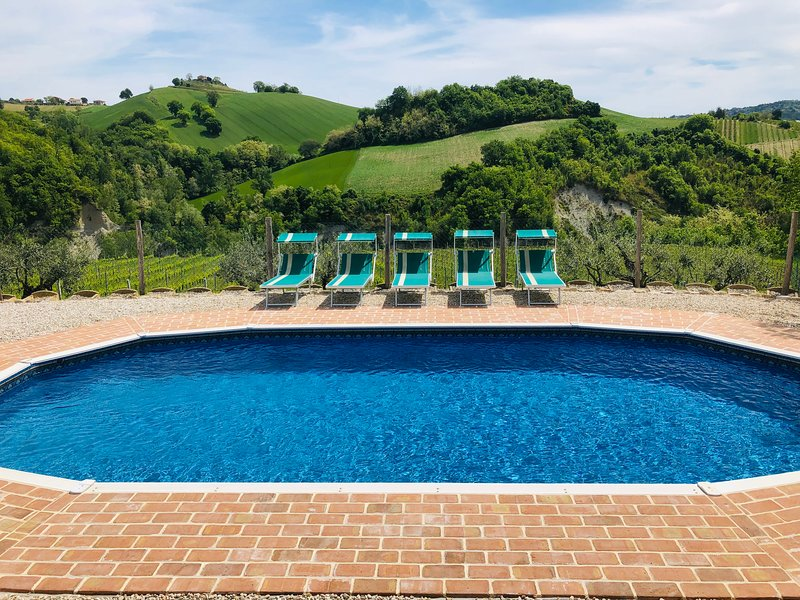 Villa in the Vineyard - spacious apartment, private pool, in a stunning location, holiday rental in Province of Fermo