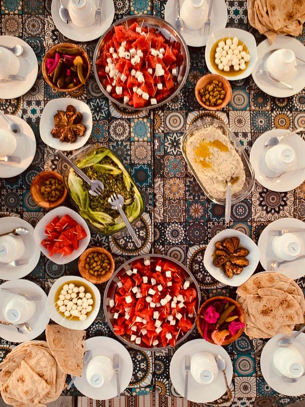 A typical Palestinian brunch served at Turquoise