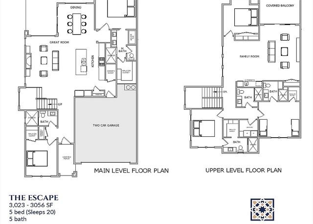 The Escape Floor plan