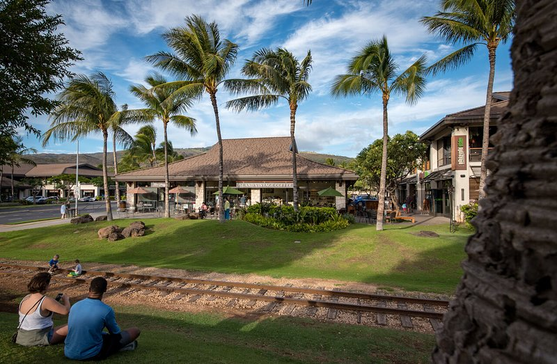 Ko Olina's Retail Center and the Tourist Train Tracks
