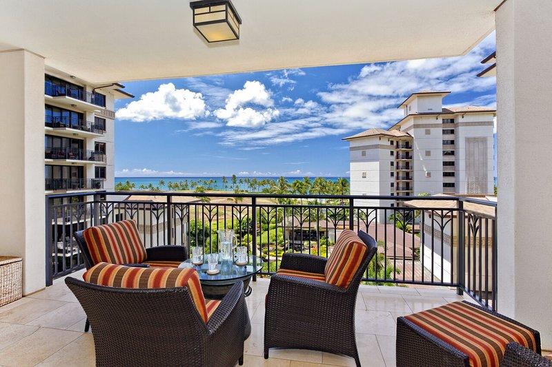 Lanai with Ocean & Pool Views