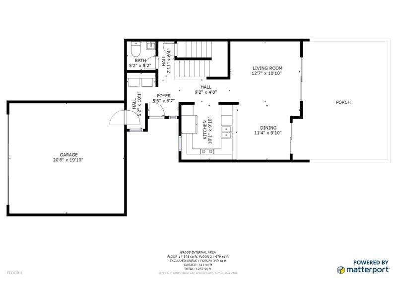 Floorplan Showing the 1st Floor
