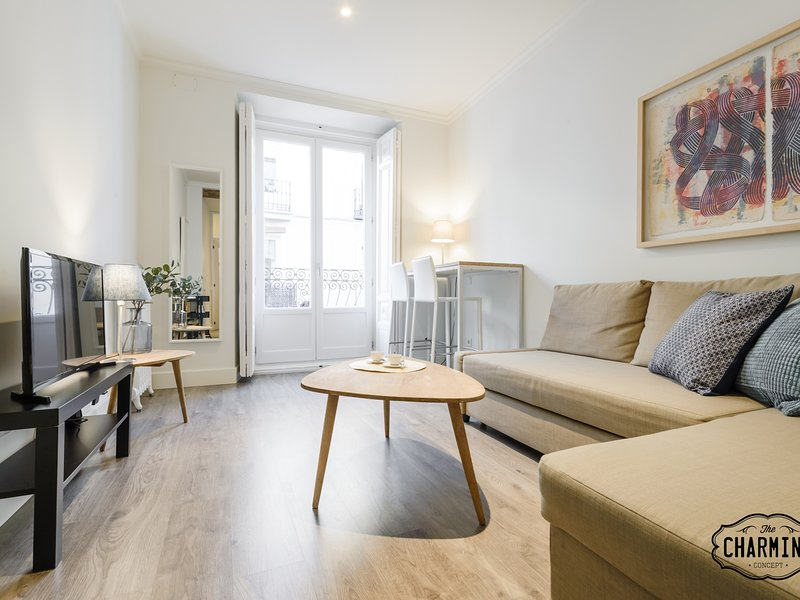 Charming Chueca Center II - Studio apartment for 2 with balcony., holiday rental in Madrid