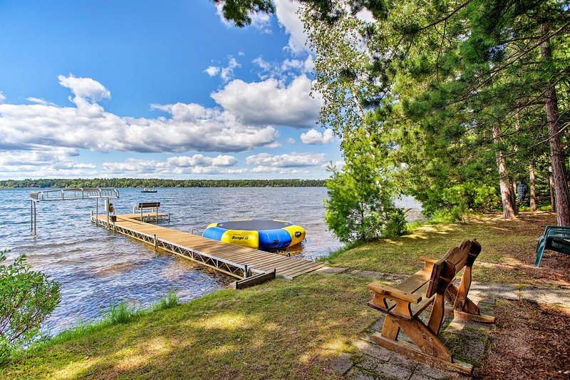 You'll have access to the boating dock & water trampoline.