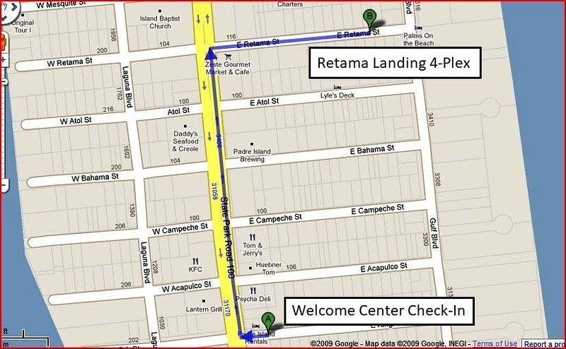 Mapa para Retama Landing a partir do Welcome Center