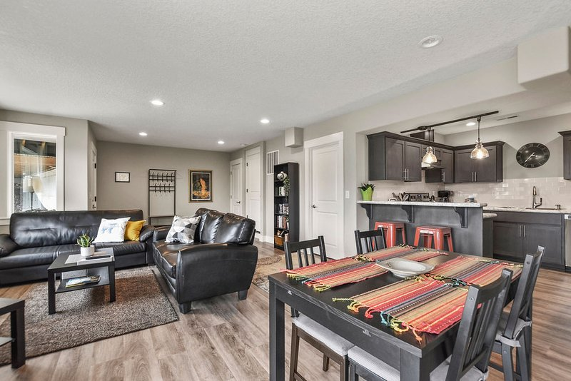 Large, spacious dining room and living room.  Spread out and relax!