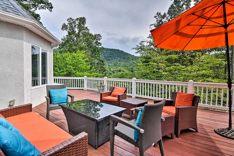Embrace the beauty of Asheville at this 4-bedroom, 3.5-bathroom vacation rental.