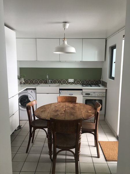 Kitchen with direct access to the private patio