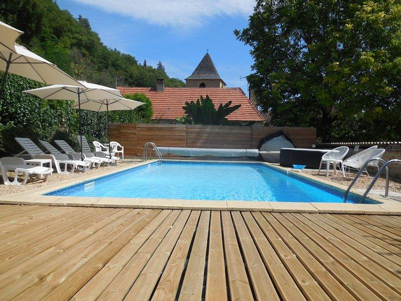 L'OUSTAL classé 3*-Lascaux Périgord noir parc, piscine chauffée, Spa & wifi, location de vacances à Montignac
