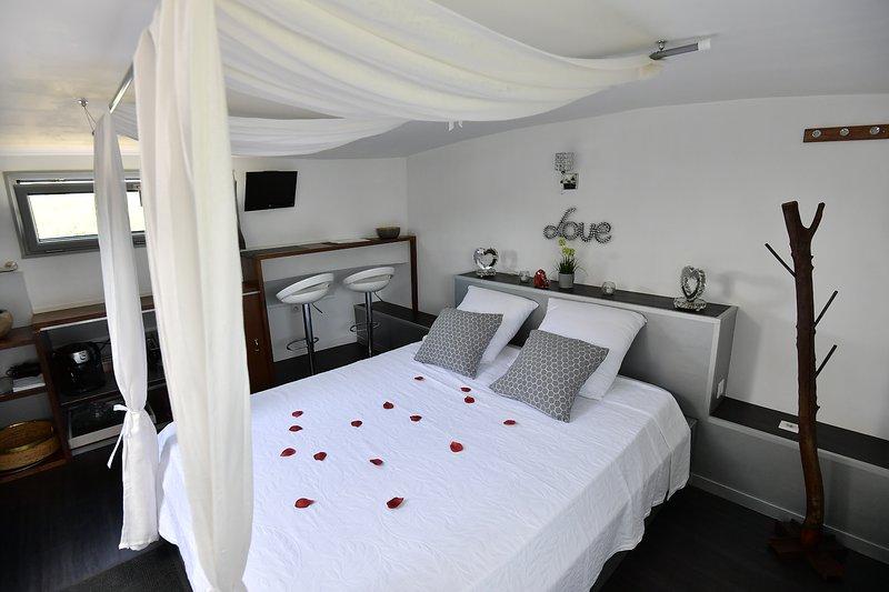CHAMBRE AVEC JACUZZI SUR PENICHE CONTEMPORAINE, vacation rental in Villeneuve les Beziers