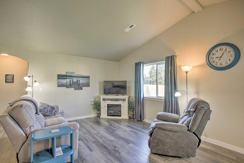 Questa casa vacanze in Spokane Valley offre 2 camere da letto e 2 bagni.