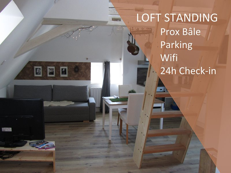 ❤️ LA GRANGE/ LOFT HIGH STANDING PROX BASEL, holiday rental in Brunstatt