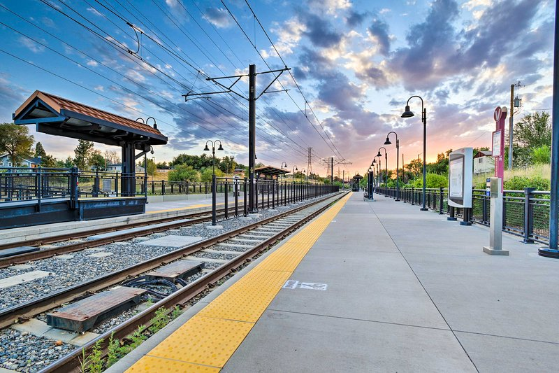Hop on the Light Rail and begin your grand getaway!