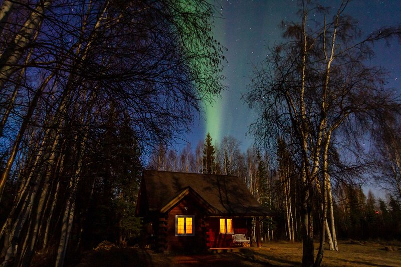 The sky becomes a true delight at night with the Northern Lights overhead!