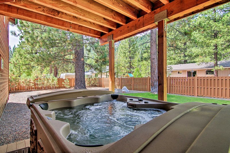 While staying at this vacation rental, you'll enjoy various luxury amenities.