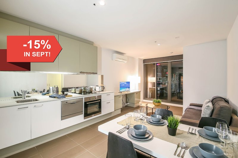 A fully furnished apartment unit in the CBD.