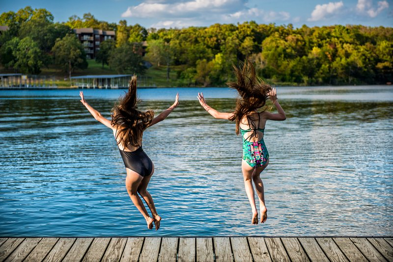 Jump off into the lake!
