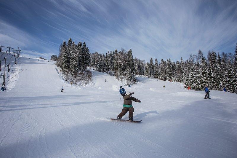 Mullsjö Alpin är en skidanläggning för hela familjen med besökare från Sve o Dan – semesterbostad i Mullsjö