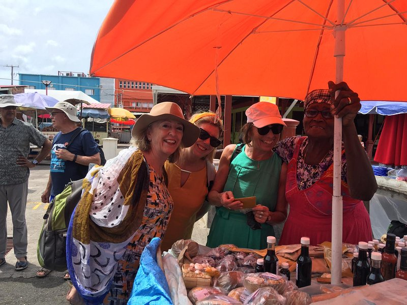 Guest photo May 2019 - shopping for spices in St George's market.