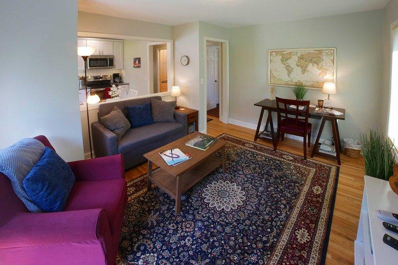 A moderna sala de estar é o espaço perfeito para se reunir.
