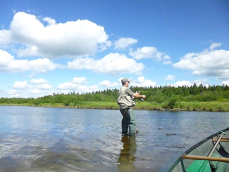 Fly fishing near the cottage