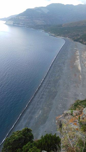 Nonza beach.