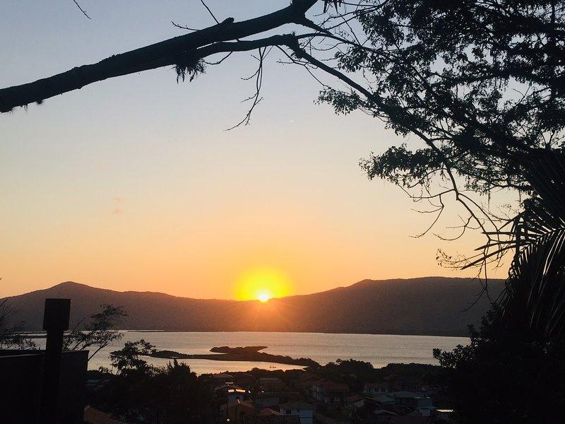 Blick auf den Sonnenuntergang