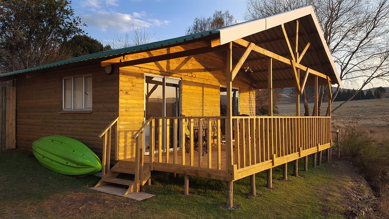 The Superior log cabin is a favourite with guests who love how cosy it is. Kayak free for your use.