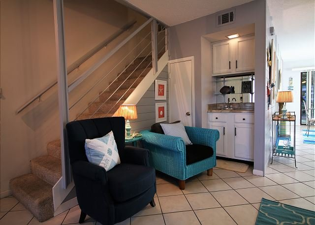 Living Area and Wet Bar