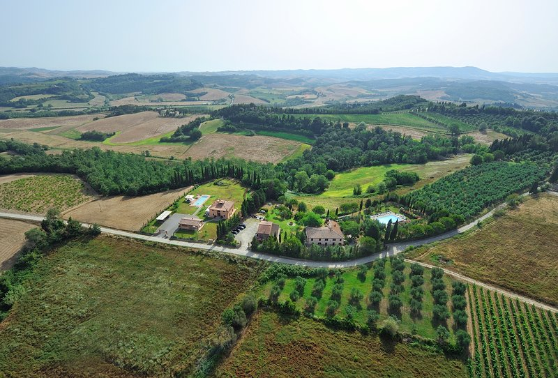 Aerial photo of the farm