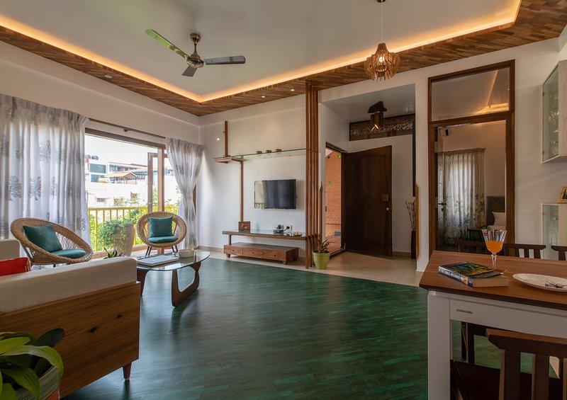 Living & Balcony @ The Jazminn Wood Apartment