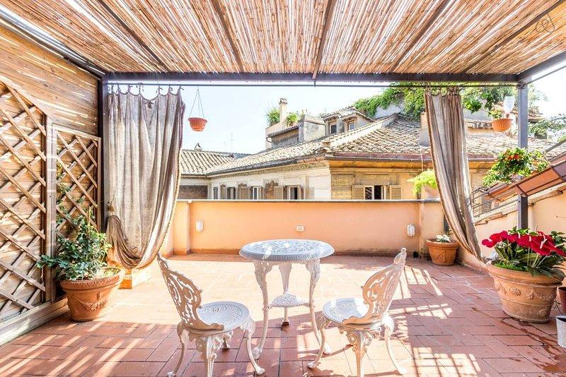 Superb 4-bedrooms penthouse with stunning terrace., alquiler de vacaciones en Roma