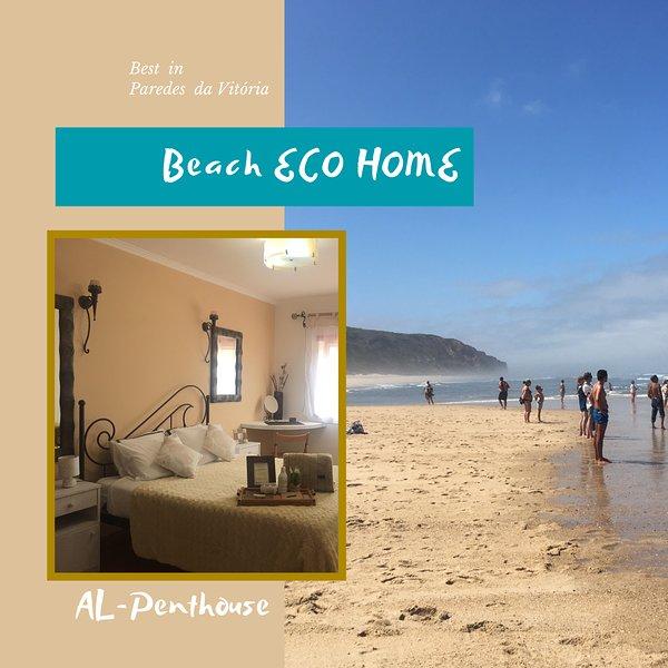 BEACH ECO HOME - Penthouse Beach - Praia Paredes Vitória, casa vacanza a Telheiro
