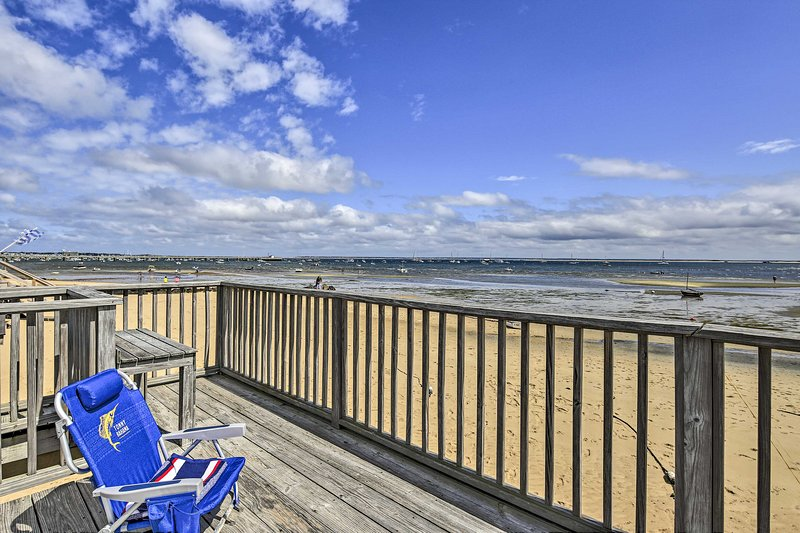 Enjoy incredible views of Cape Cod Bay from this vacation rental!