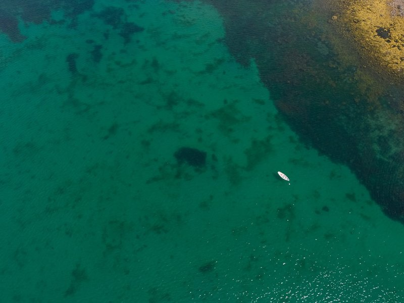 Flygfoto över det omgivande området