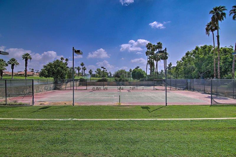 Profitez de quelques parties de tennis!