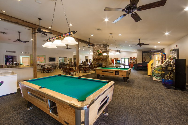Shoot some pool with your group in the cozy billiards lounge.