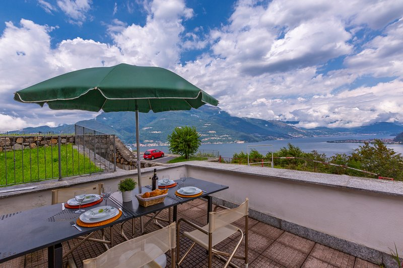 Dining al fresco by the terrace with amazing view of the lake