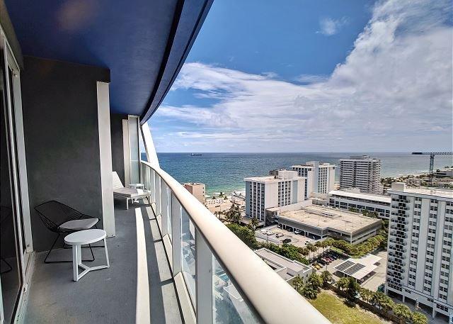 Balcony View overlooking the ocean