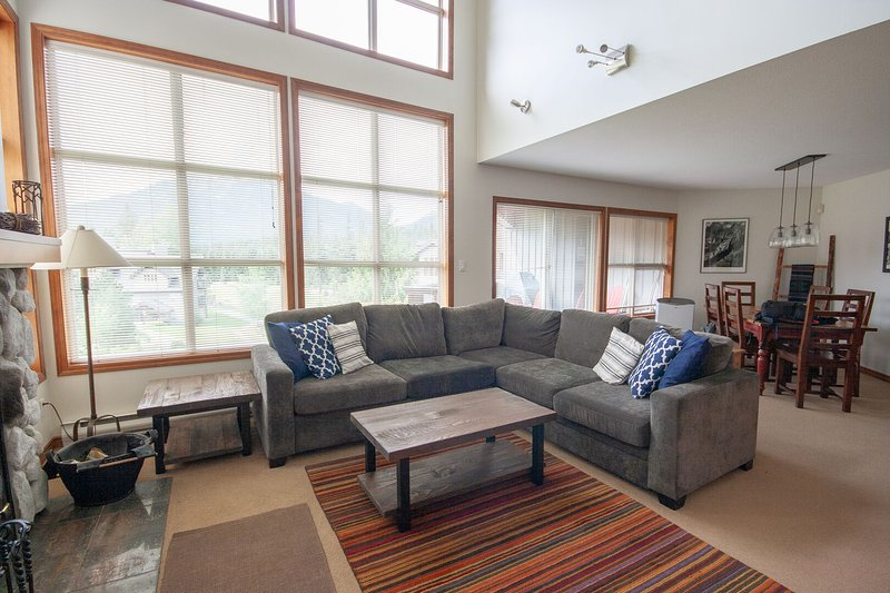 WELCOME to Blackcomb Greens - This open concept townhome will ensure a peaceful and relaxing holiday with stunning views of the Fairmont Golf Course and everything you need to have a stress free holiday