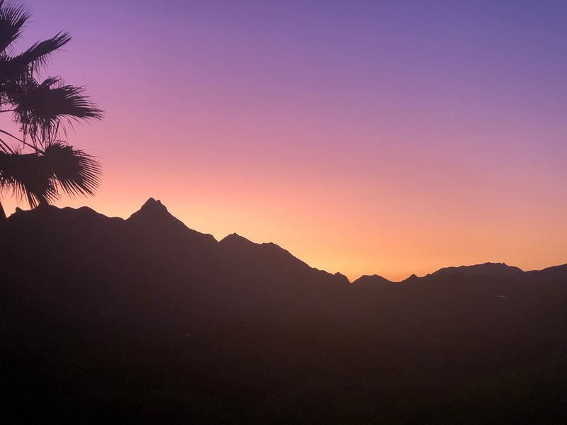 magical sunsets over the malibu mountains.  the backbone trail is in our yard