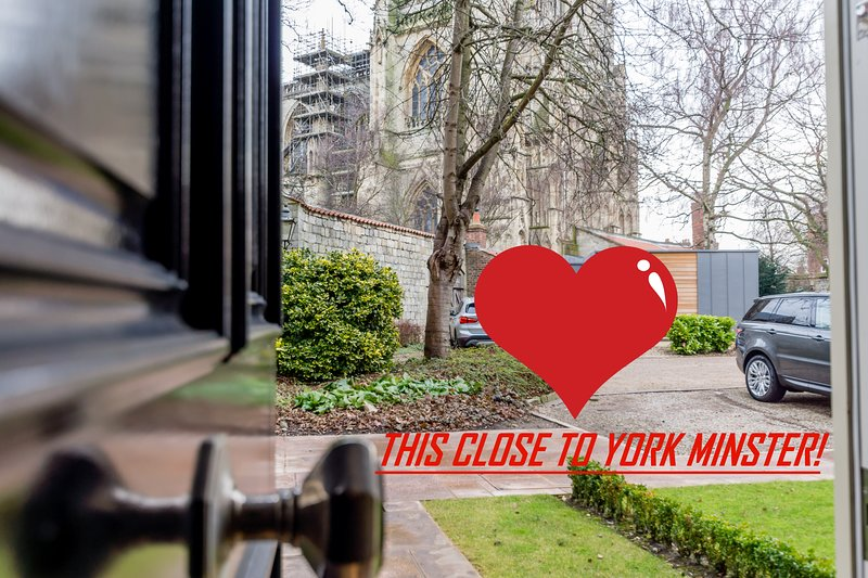 Step out of the front door and York Minster is this close!