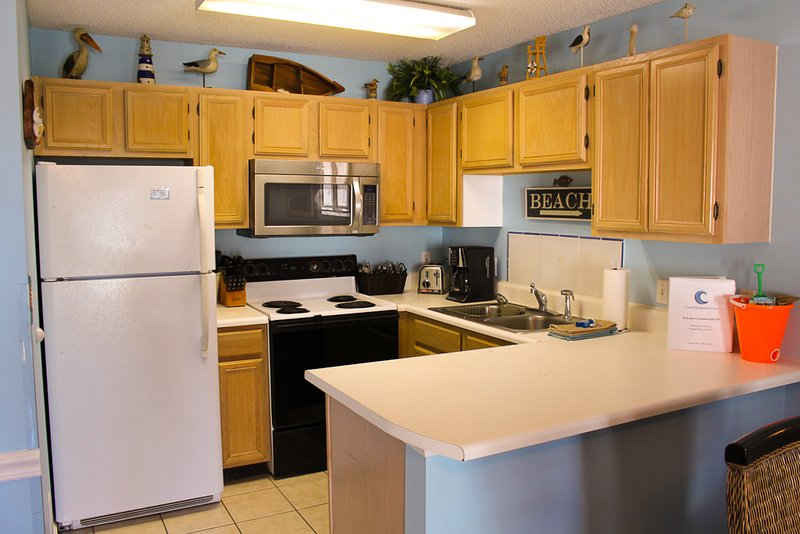 Kitchen with updated appliance