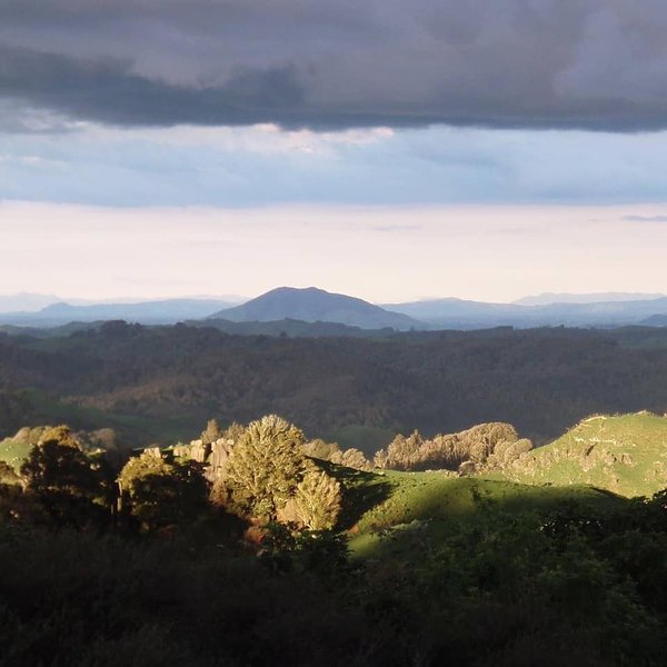 Mt Kakepuku looking towards the Coromandel.