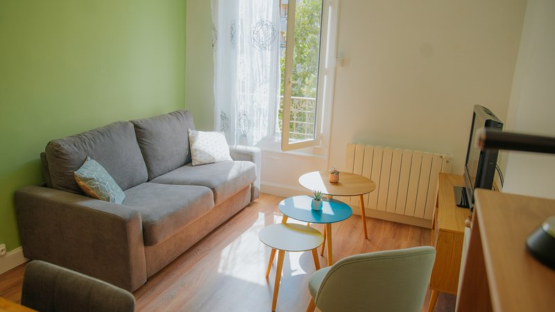 Welcome to this beautiful T2 near the center of Lyon with Scandinavian decoration.