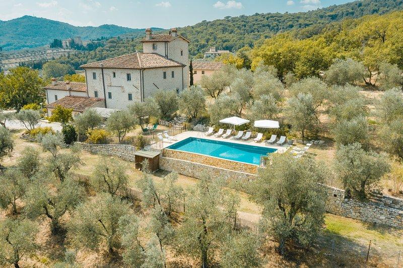 Villa Il Forte, private luxury villa only 14 km from Florence. Pool, A/C, Wi-Fi, location de vacances à Bagno a Ripoli
