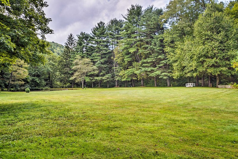 Enjoy the wide open green spaces the property offers.