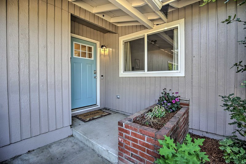 Your home-away-from-home is waiting just past the blue front door!