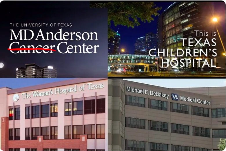 O complexo boutique fica a menos de 2,4 km do Houston Medical Center e do estádio NRG.